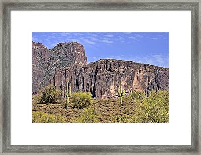 Superstition Wilderness Arizona Framed Print by Christine Till