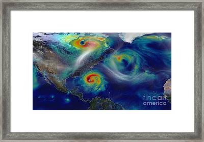 Superstorm Sandy Framed Print by Science Source