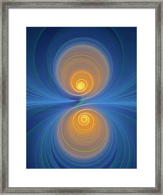 Supersymmetry And Or Bipolarity Framed Print by David Parker