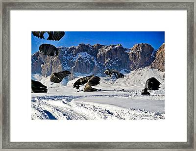 Supply Drop Framed Print by Mountain Dreams