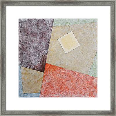 Suprematist Composition No 1 With A Square Framed Print by Ben and Raisa Gertsberg