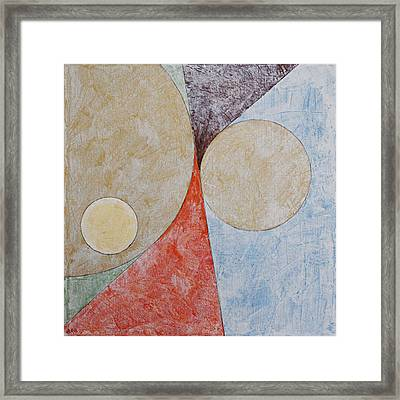 Suprematist Composition No 2 With A Circle Framed Print by Ben and Raisa Gertsberg