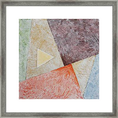 Suprematist Composition No 3 With A Triangle Framed Print by Ben and Raisa Gertsberg