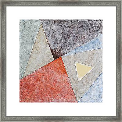 Suprematist Composition No 4 With A Triangle Framed Print by Ben and Raisa Gertsberg