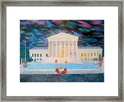 Supreme Court Framed Print by Mike De Lorenzo