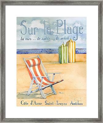 Sur La Plage Framed Print by Paul Brent