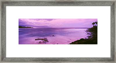 Surf Along Rocky Coast, Oahu, Hawaii Framed Print by Panoramic Images