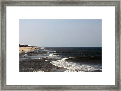 Surf And Sand Framed Print by Carolyn Ricks