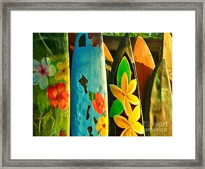 Surf Boards Framed Print by Wingsdomain Art and Photography