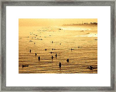 Surf Convention Framed Print by Ron Regalado
