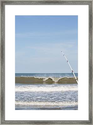 Surf Fishing Framed Print by Kay Pickens