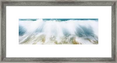 Surf Fountains Big Makena Beach Maui Hi Framed Print by Panoramic Images