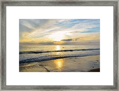 Framed Print featuring the photograph Surf In Light by Thierry Bouriat
