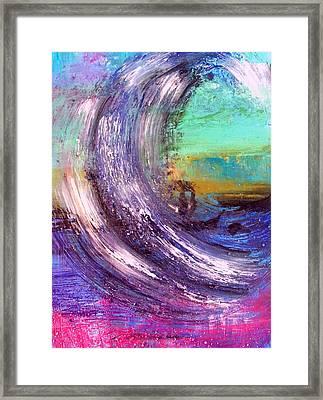 Surf Is Up Framed Print by Nikki Dalton