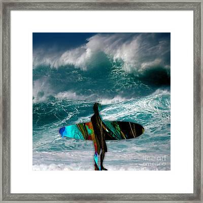 Surf Framed Print by Marvin Blaine