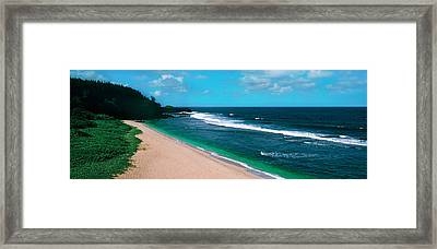 Surf On The Beach, Gris Gris Beach Framed Print by Panoramic Images