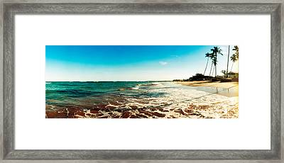 Surf On The Beach, Morro De Sao Paulo Framed Print by Panoramic Images