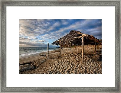 Surf Shack II Framed Print by Peter Tellone