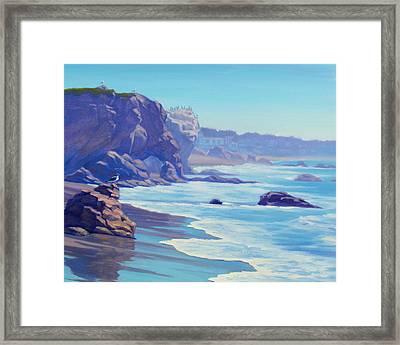 Surf Watchers Framed Print by Elena Roche