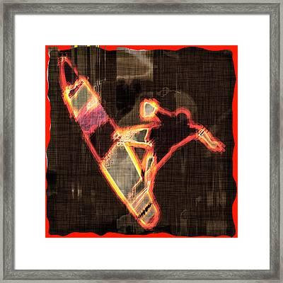 Surfer Framed Print by David G Paul