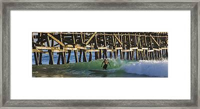 Surfer Dude 3 Framed Print by Scott Campbell