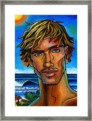Surfer Dude Framed Print by Douglas Simonson