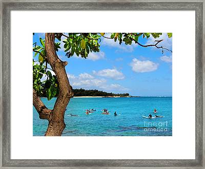 Surfers In Paradise Framed Print by Kristine Merc