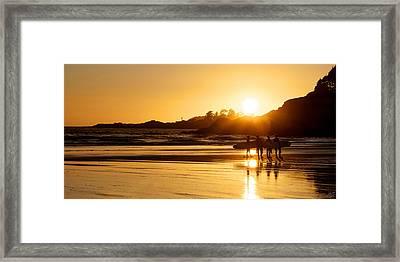 Surfing Reflections Framed Print by Lisa Knechtel
