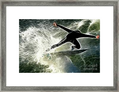 Surfing Usa Framed Print by Bob Christopher