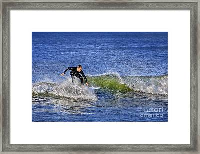 Surfing Usa Framed Print by Evelina Kremsdorf