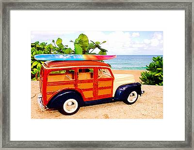 Surf's Up Framed Print by Jerome Stumphauzer