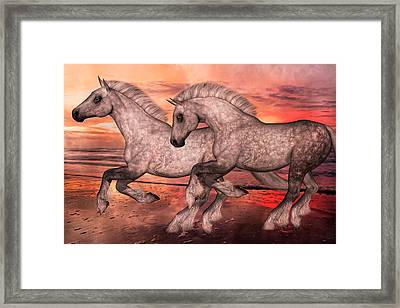 Surfsiders  Framed Print by Betsy C Knapp