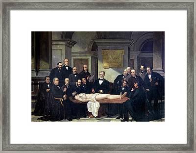 Surgery Lesson Framed Print by Javier Trueba/msf