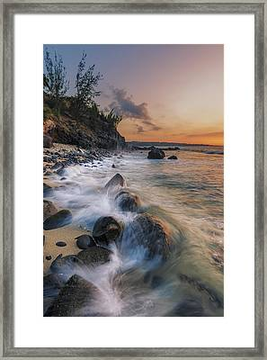 Surging Sunset Framed Print by Hawaii  Fine Art Photography