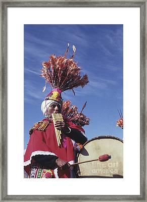 Suri Sicuri Musician Bolivia Framed Print by James Brunker