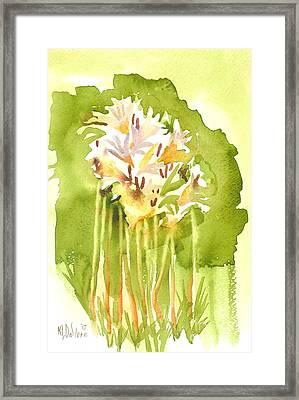 Surprise Lilies A Portrait Framed Print by Kip DeVore