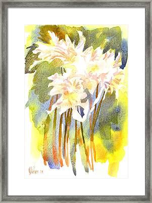 Surprise Lilies Iv A Portrait Framed Print by Kip DeVore