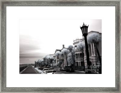Surreal Charleston South Carolina Battery Park Framed Print by Kathy Fornal
