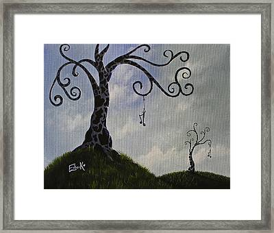 Surreal Dreamscape Painting Framed Print by Shawna Erback