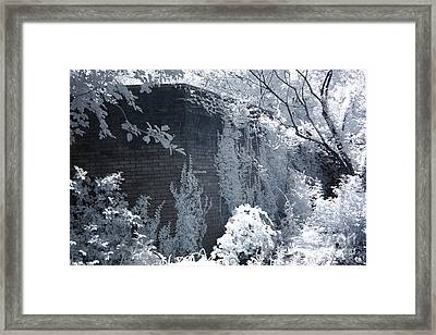 Surreal Dreamy Garden Infrared Fantasy Landscape Framed Print by Kathy Fornal