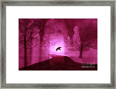 Surreal Fantasy Gothic Raven Crow Nature Framed Print by Kathy Fornal