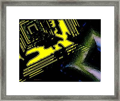 Surreal Geometry Art Framed Print by Mario Perez