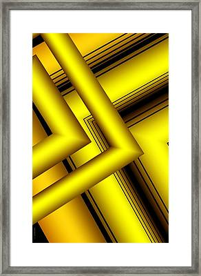 Surreal Geometry In Yellow Framed Print by Mario Perez