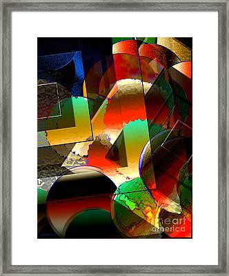 Transparency Shapes And Color Art Framed Print by Mario  Perez