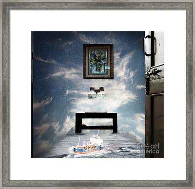 Surreal Living Room Framed Print by Laxmikant Chaware