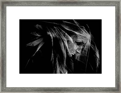 Surreal Portrait Framed Print by Cambion Art