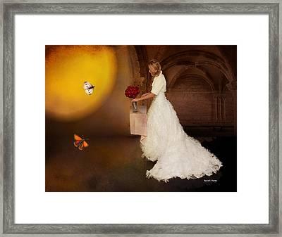 Surreal Wedding Framed Print by Angela A Stanton