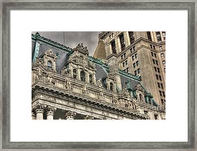 Surrogate's Courthouse Detail Framed Print by David Bearden