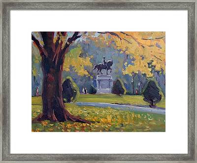Surrounded Framed Print by Dianne Panarelli Miller