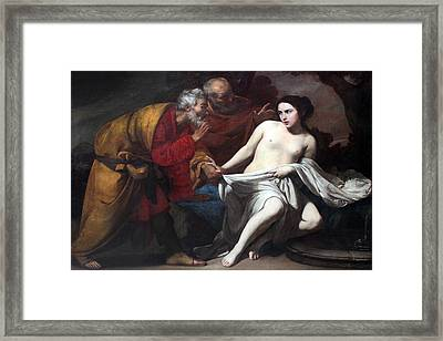 Susanna And The Elders  Framed Print by Massimo Stanzione